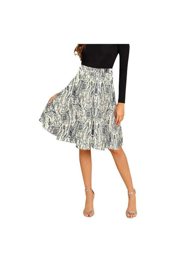 Arabesque Melete Pleated Midi Skirt