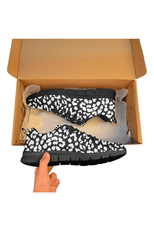 Black/White Leopard Print Men's Breathable Running Shoes - Objet D'Art Online Retail Store