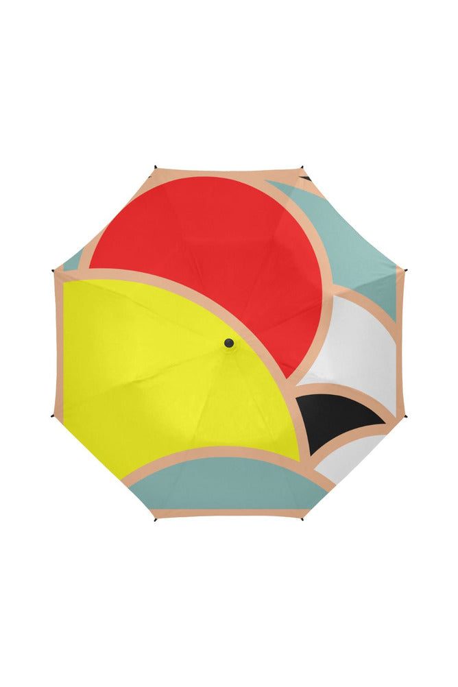 Rising Suns Semi-Automatic Foldable Umbrella - Objet D'Art Online Retail Store