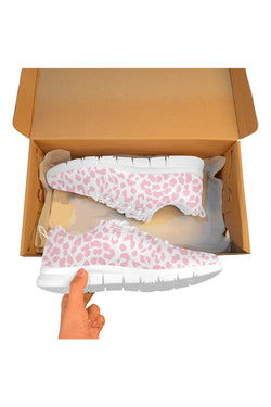 Pink Leopard Women's Breathable Running Shoes
