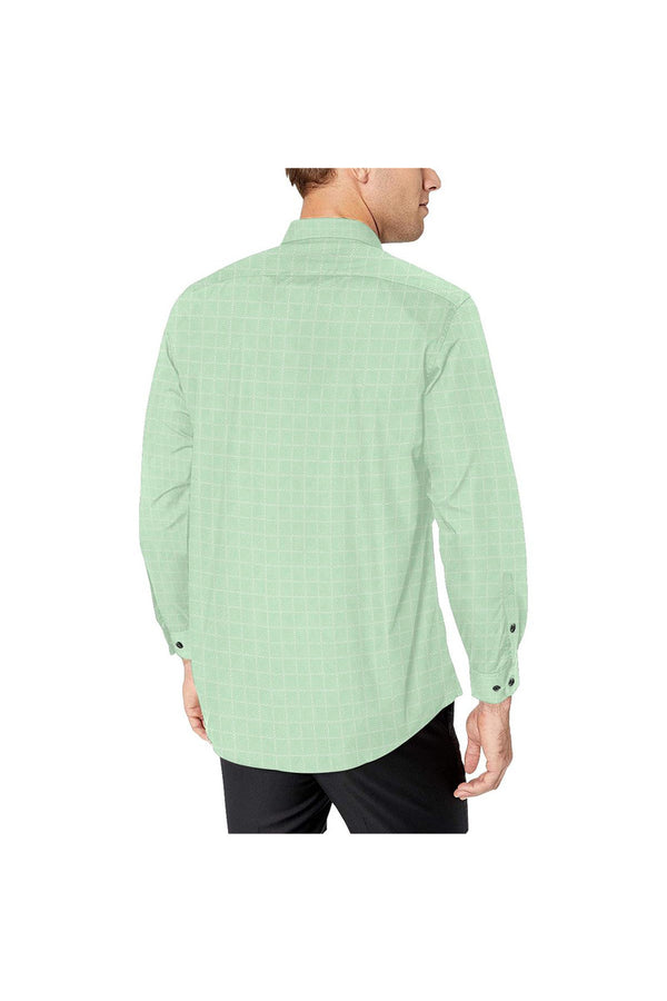 Lime Lattice Men's All Over Print Casual Dress Shirt (Model T61)