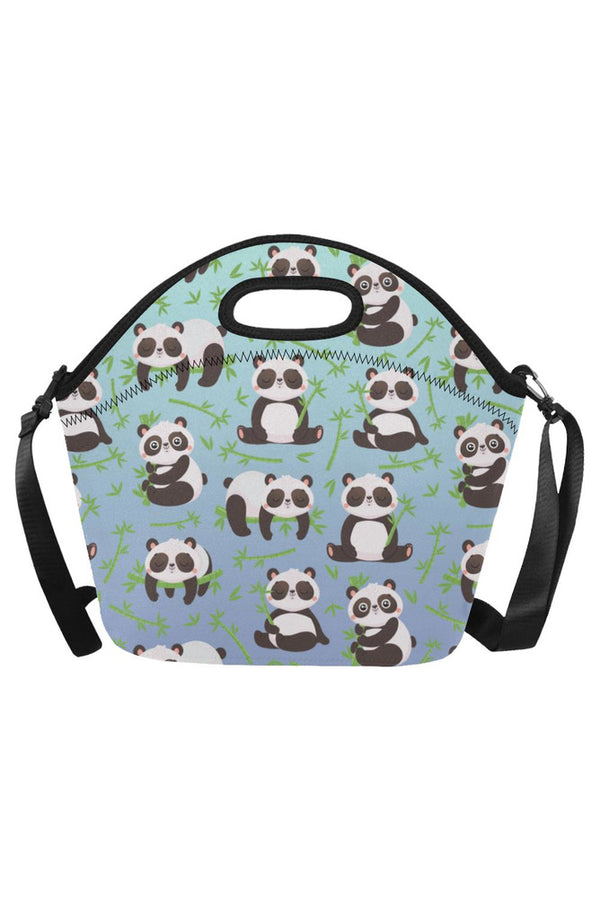 panda lunch box Neoprene Lunch Bag/Large (Model 1669)