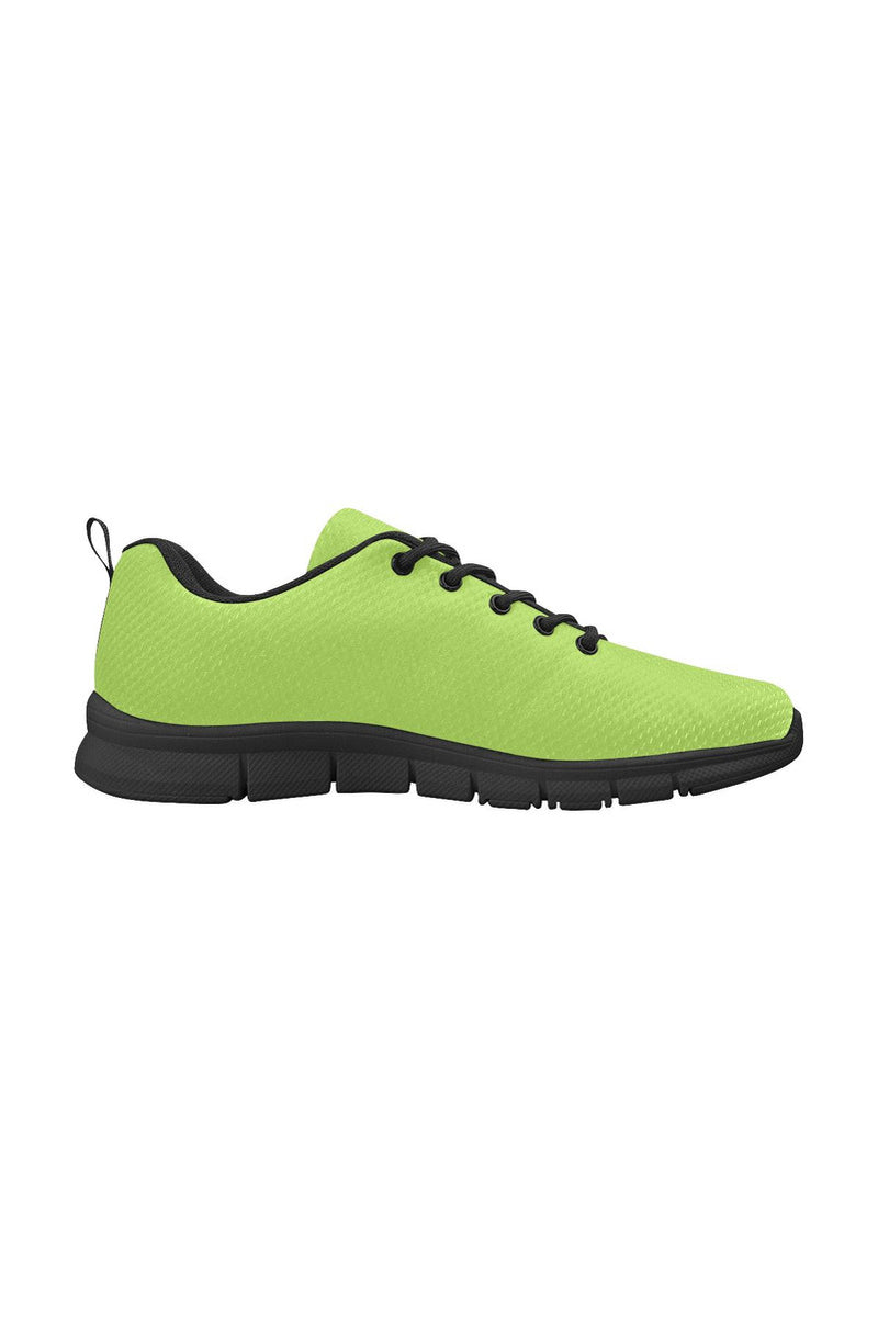 Lime Green Women's Breathable Running Shoes