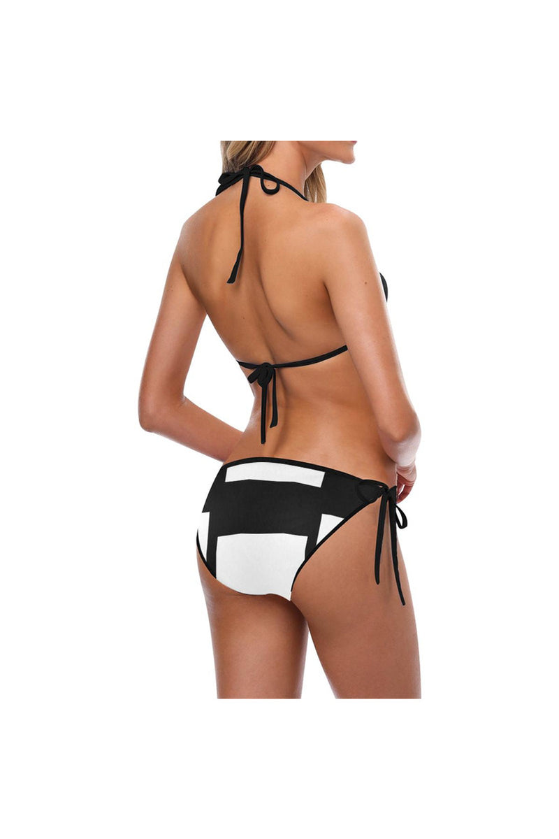 Black & White Custom Bikini Swimsuit (Model S01)