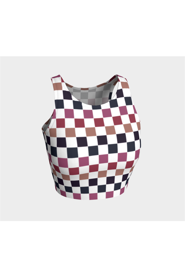 Very Berry Checkered Athletic Top