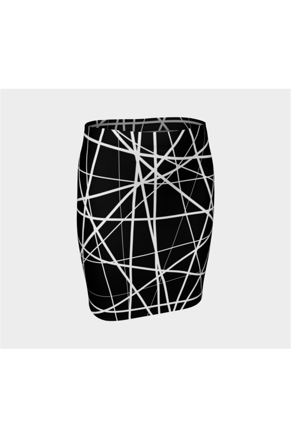 Abstract Lines Fitted Skirt - Objet D'Art Online Retail Store