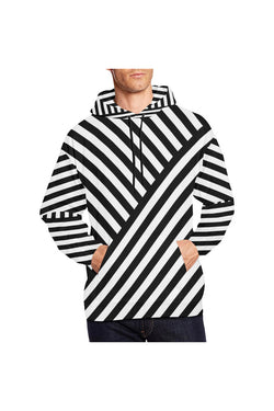 Butting Stripes All Over Print Hoodie for Men/Large Size - Objet D'Art Online Retail Store