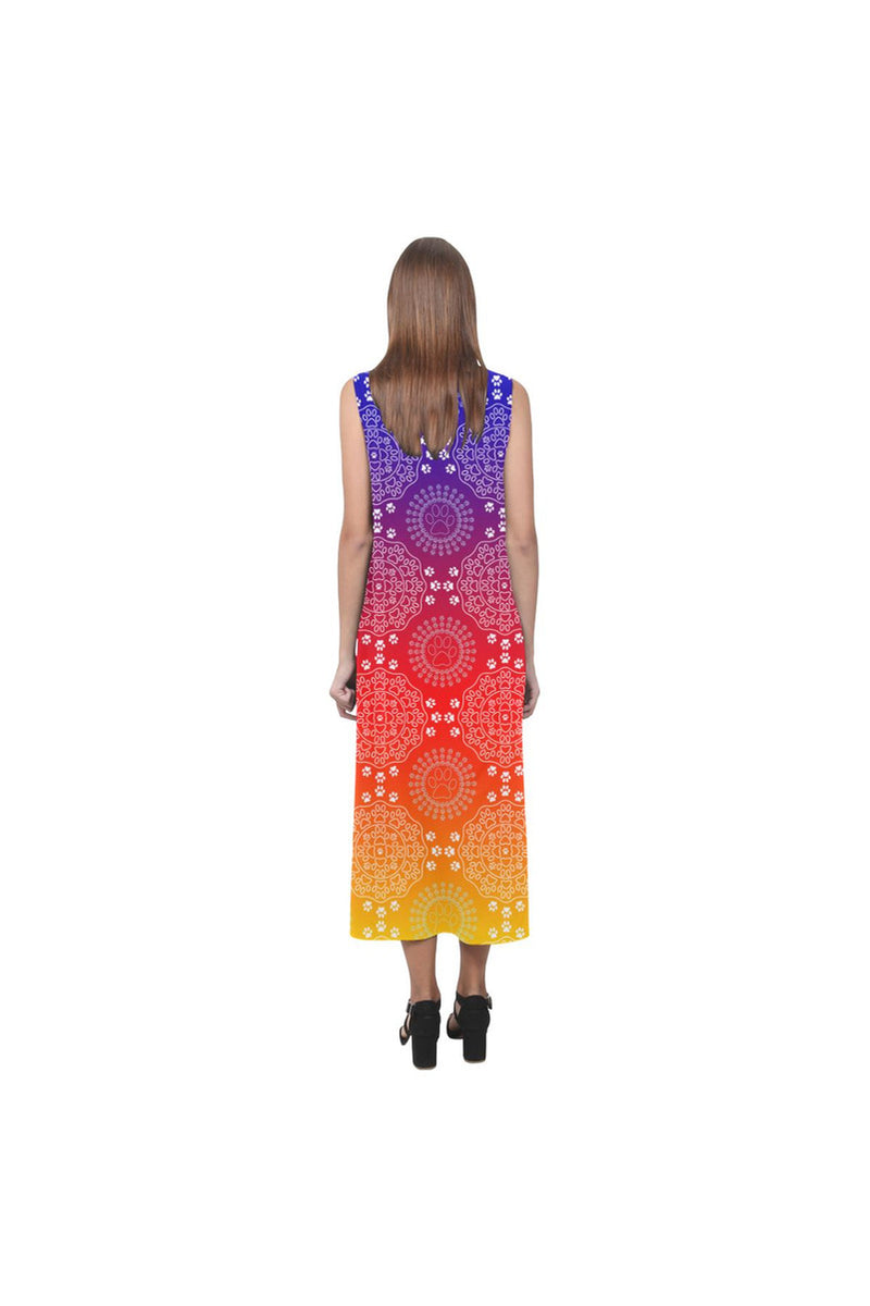 PET PAW MANDALA Phaedra Sleeveless Open Fork Long Dress - Objet D'Art Online Retail Store