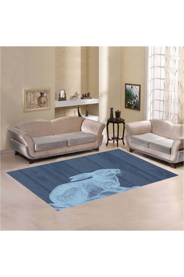 White Rabbit Area Rug7'x5'