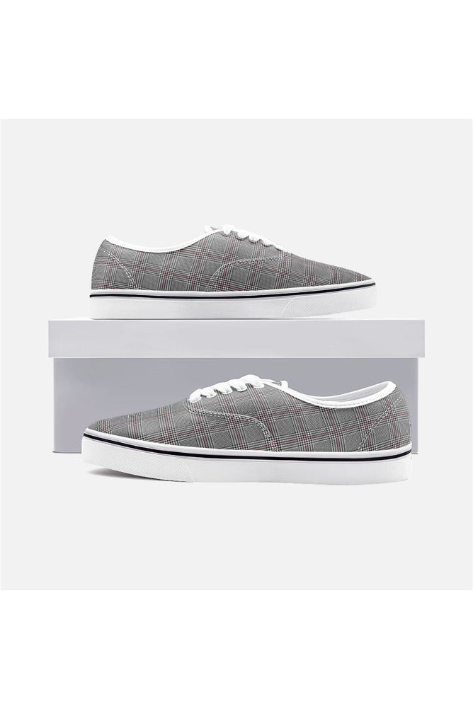 Houndstooth Unisex Canvas Sneakers