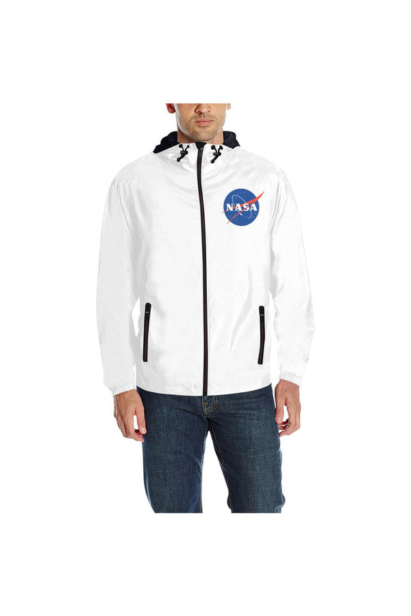 NASA Meatball Logo Quilted Windbreaker for Men