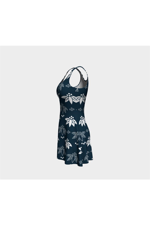 Abstract Flora Flare Dress - Objet D'Art Online Retail Store