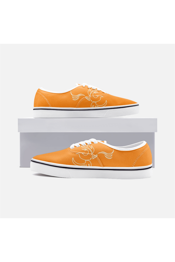 Phoenix Orange Unisex Canvas Sneakers