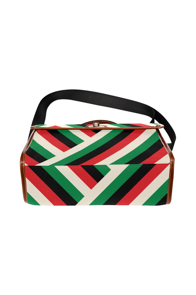 Pan African Waterproof Canvas Bag/All Over Print