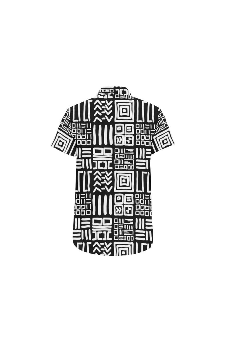Tribal Large Men's All Over Print Short Sleeve Shirt/Large Size