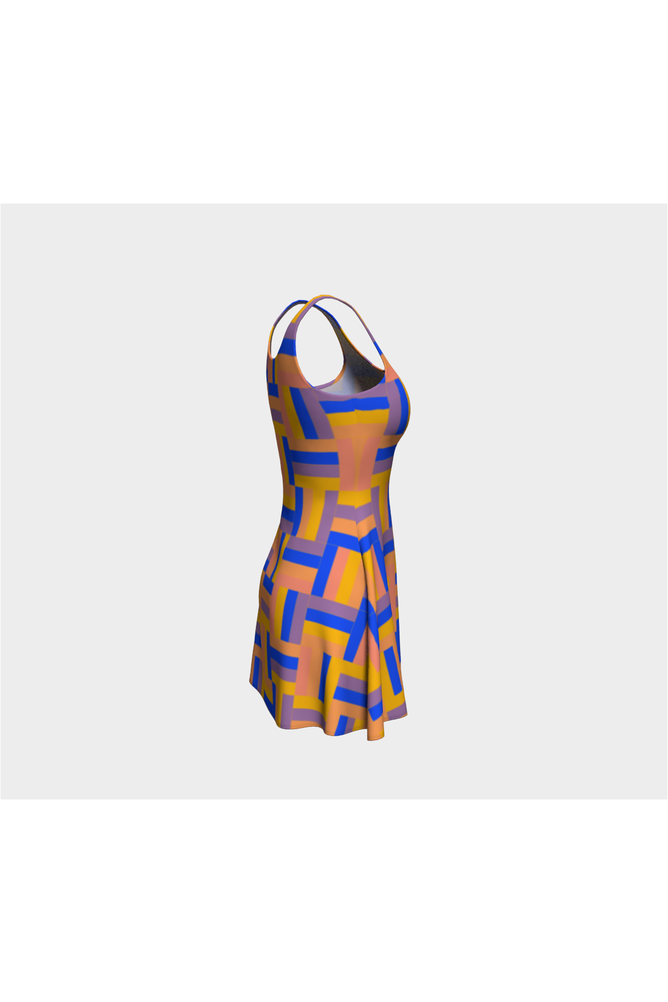 Basket weave Flare Dress - Objet D'Art Online Retail Store