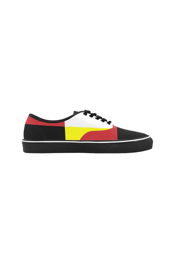Abstract Classic Women's Canvas Low Top Shoes (Model E001-4)