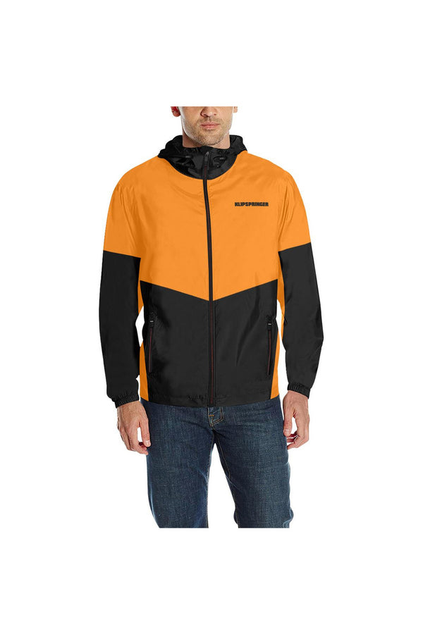 Turmeric & Black Quilted Windbreaker for Men