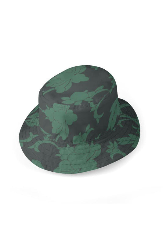 Forest Green Outside & Floral Inside Reversible Bucket Hat