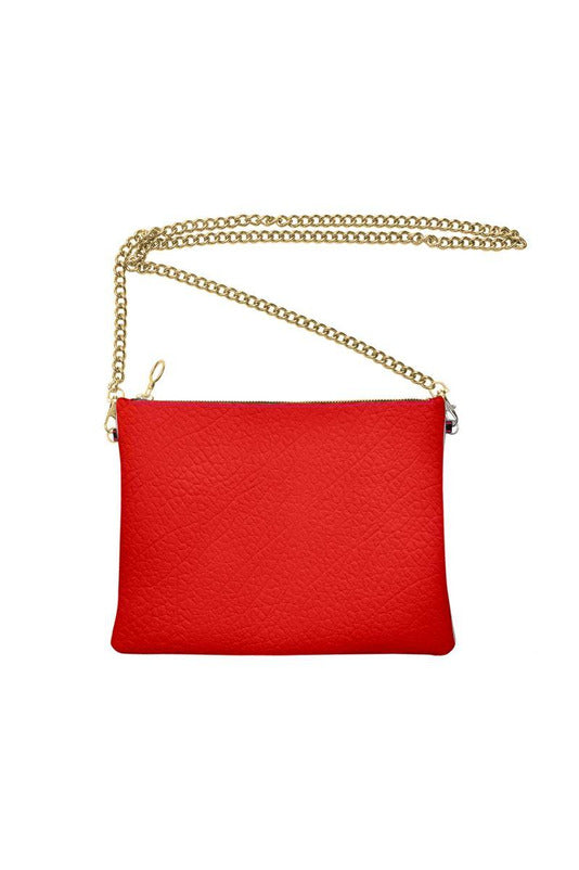 Bright Red Crossbody Bag with Chain