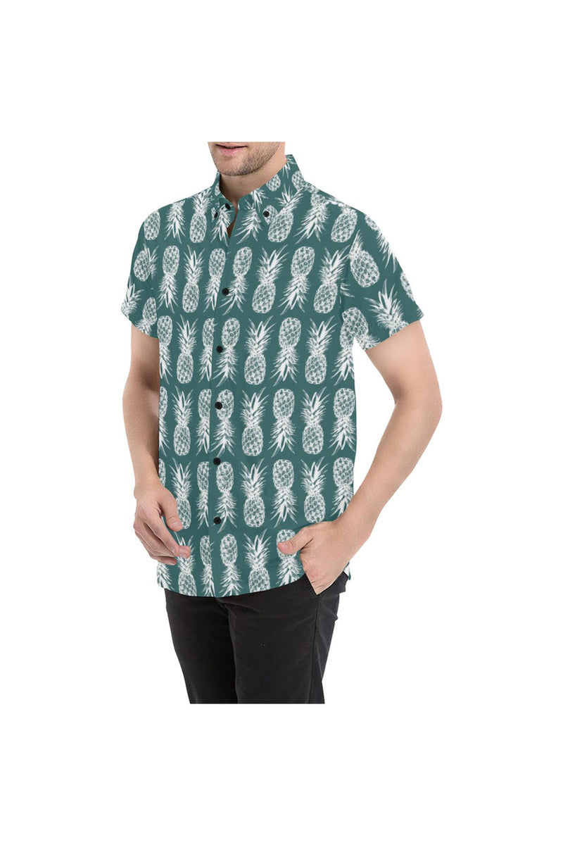 Pineapple Pleasure Men's All Over Print Short Sleeve Shirt