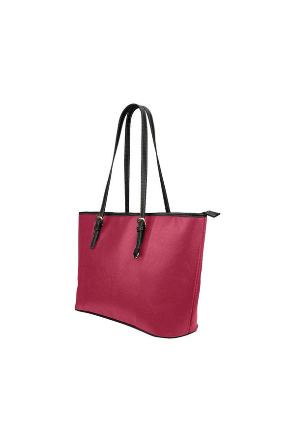 Jester Red Small Leather Tote Bag