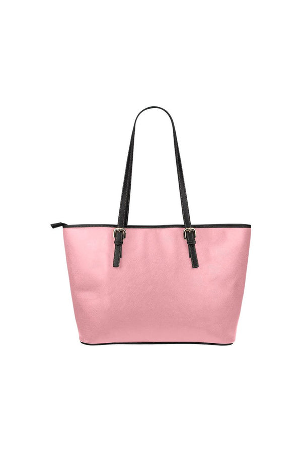 Pink Leather Tote Bag/Small