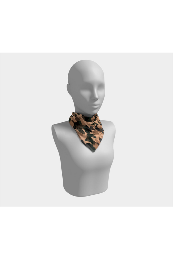 Nude Tone Camouflage Scarf