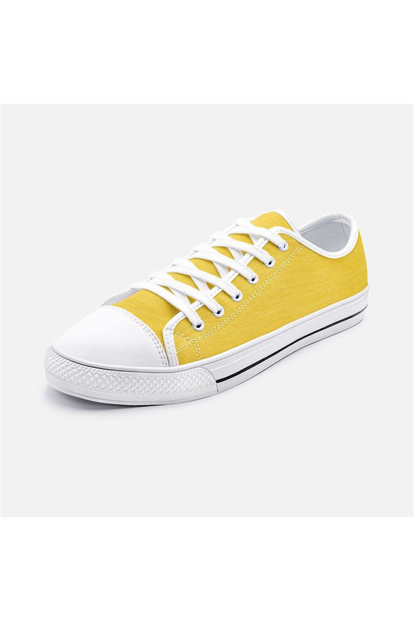Gold Fiber Unisex Low Top Canvas Shoes