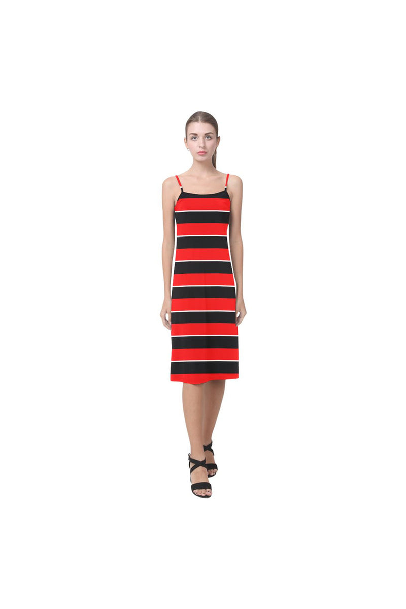 Red & Black Stripes Alcestis Slip Dress - Objet D'Art Online Retail Store