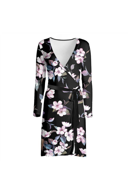 Floral Midnight Wrap Dress