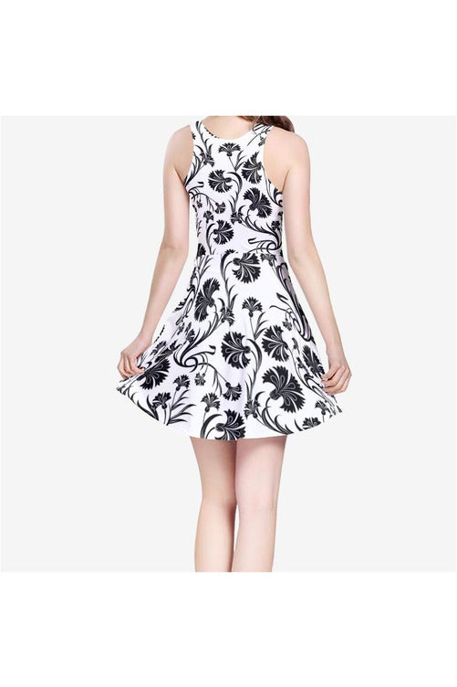 Floral Awakening Women's Sleeveless Midi Casual Flared Skater Dress