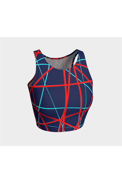 Anaglyphic Abstract Athletic Top - Objet D'Art Online Retail Store