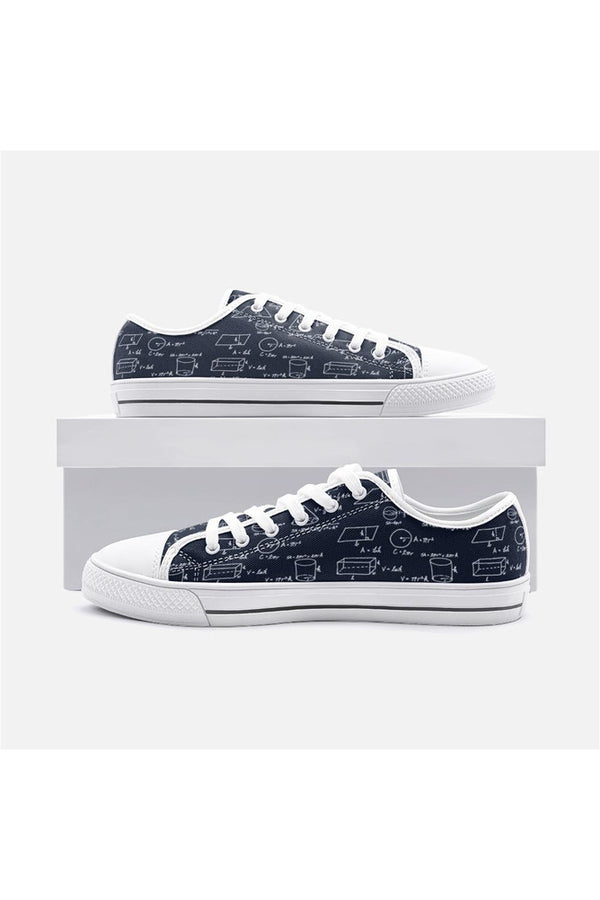 Geometric Math Unisex Low Top Canvas Shoes