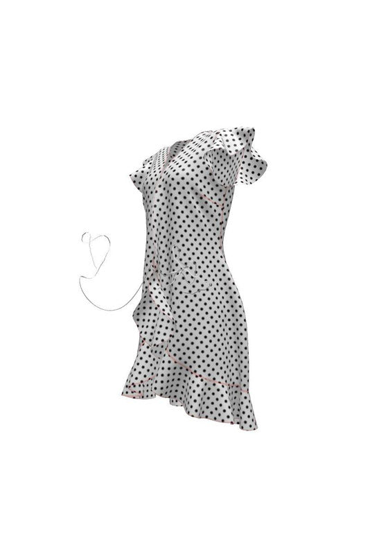 Micro Polka-dot Tea Dress