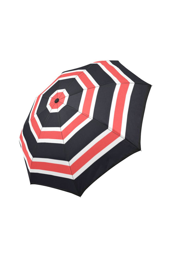 Orange & Black Stripe Auto-Foldable Umbrella (Model U04)