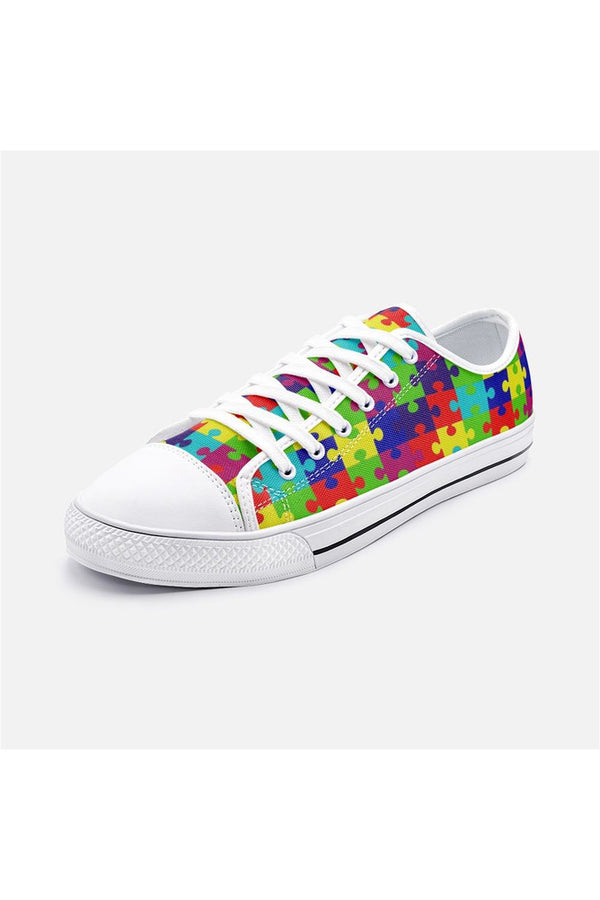 Autism Awareness Unisex Low Top Canvas Shoes