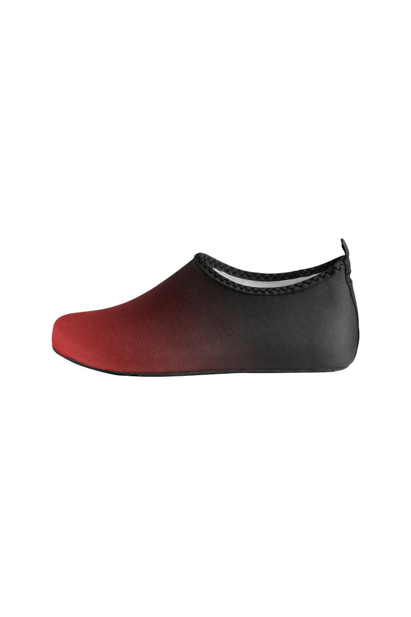Fade Red to Black Women's Slip-On Water Shoes - Objet D'Art Online Retail Store