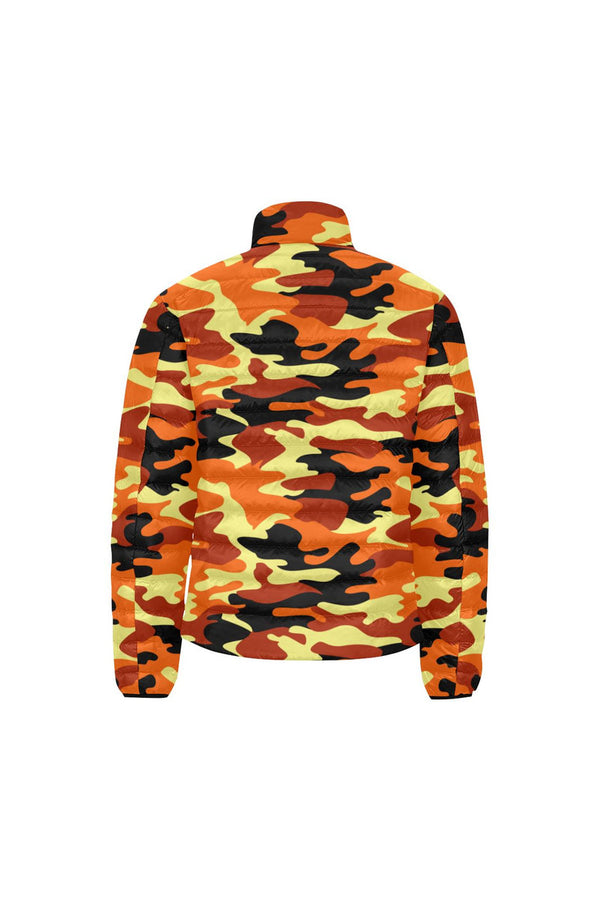 Camouflage Unisex Stand Collar Padded Jacket