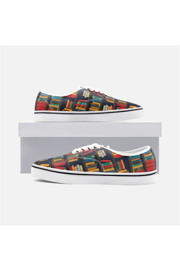 Bookshelf Unisex Canvas Sneakers