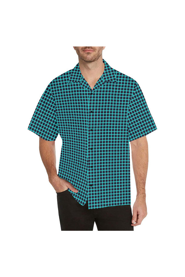 Aqua Matrix Hawaiian Shirt