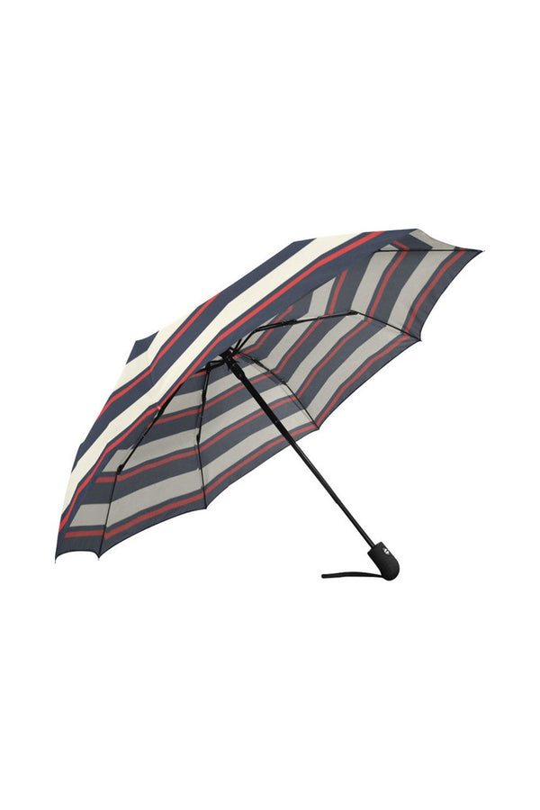 Designer Striped Auto-Foldable Umbrella
