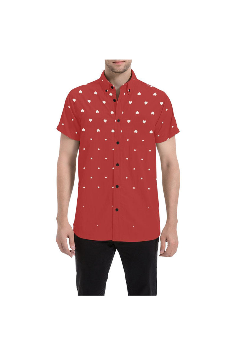 Rising Hearts Men's All Over Print Short Sleeve Shirt