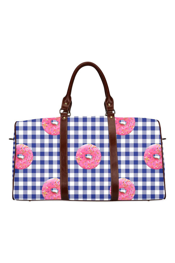Donuts On Tabletop Waterproof Travel Bag/Small - Objet D'Art Online Retail Store