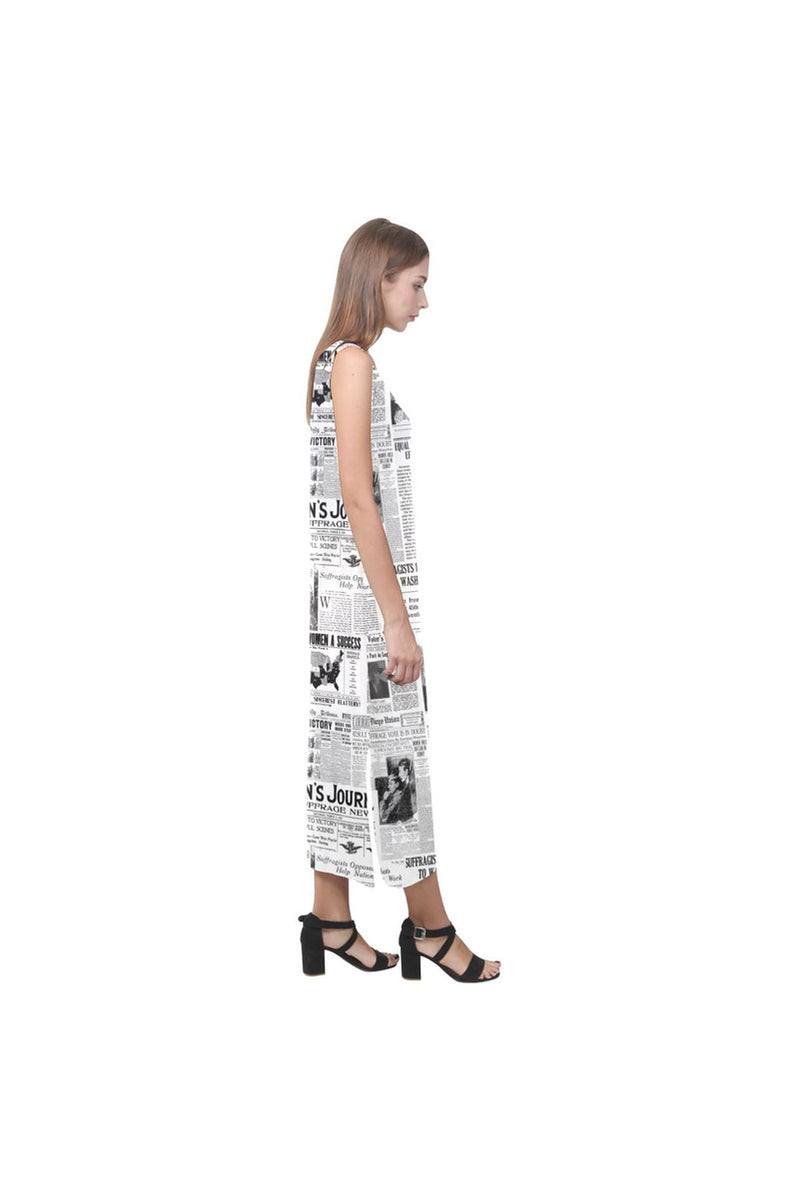 WOMEN SUFFRAGE Phaedra Sleeveless Open Fork Long Dress - Objet D'Art Online Retail Store