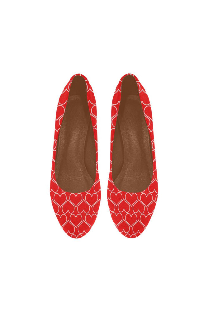 Red Hearts Women's High Heels - Objet D'Art Online Retail Store