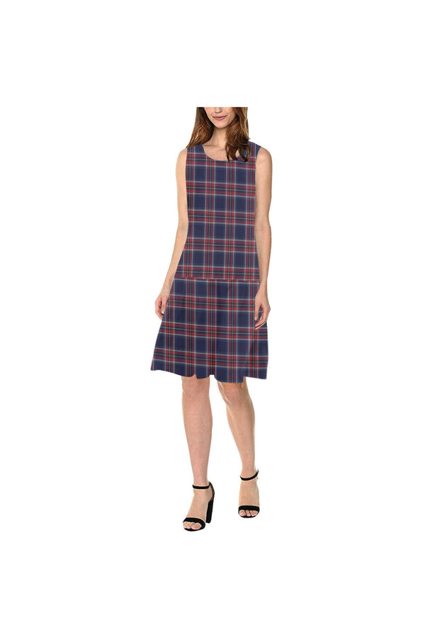 Tartan Sleeveless Splicing Shift Dress(Model D17)