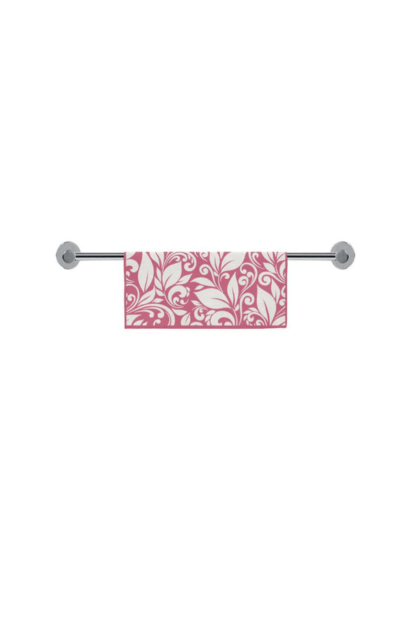 "Floral Scroll hand Towel Pink Square Towel 13""x13"""