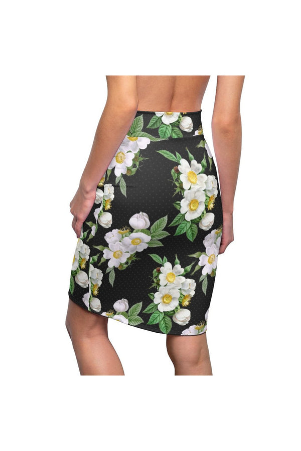 Floral Polka dots Women's Pencil Skirt