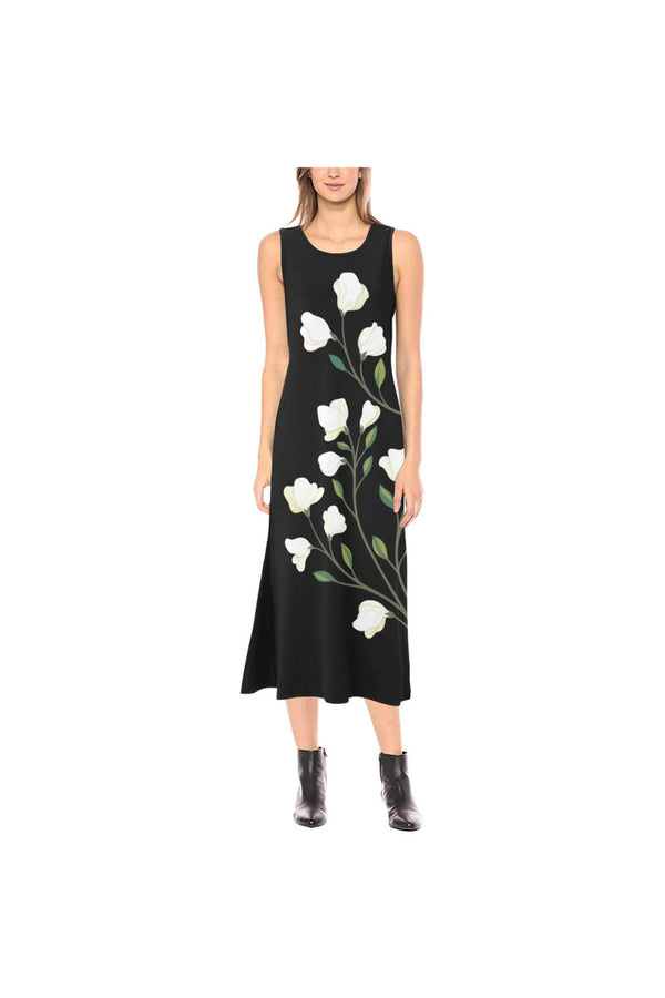Floral Phaedra Sleeveless Open Fork Long Dress